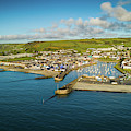 Aberaeron , Ceredigion From The Air by Keith Morris