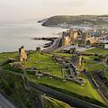 Aberystwyt Castle At Dawn by Keith Morris