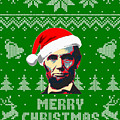 Abraham Lincoln Merry Christmas by Filip Hellman