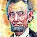 Abraham Lincoln Portrait by Suzann Sines