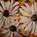 Abstract Black Eyed Susans       45 by Cheryl Nancy Ann Gordon