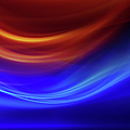Abstract Blue And Red Background by Teekid