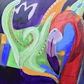 Abstract Flamingo 2 by Cherylene Henderson