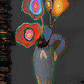 Abstract Floral Art 367 by Miss Pet Sitter