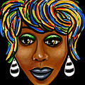 Abstract Art Black Woman Retro Pop Art Painting- Ai P. Nilson by Ai P Nilson