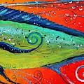 Abstract Mahi Mahi by J Vincent Scarpace