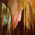 Abstract Orange Flower by Robert G Kernodle