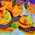 Abstract Oranges Modern Food Art by Ginette Callaway
