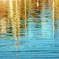 Abstract Reflections In Camden Harbor Maine by Anita Pollak