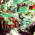 Abstract Riomaggiore Cinque Terre Art by Ginette Callaway