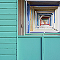 Abstract View Of The Beach Huts At by Jon Gibbs