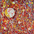 Abstract With Golden Circles by Maxim Komissarchik
