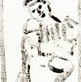 Accordion After Mikhail Larionov Black Ink Painting 1 by Edgeworth DotBlog