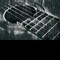 Acoustic Guitar Musician Player Metal Rock Music Black by Super Katillz