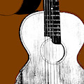 Acoustic Guitar On Brown by Artist Dot