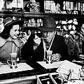 Actress Deanna Durbin Having An Ice by Alfred Eisenstaedt