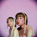 Actress Shirley Maclaine & Daughter by Allan Grant