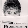 Actress Sophia Loren Impishly Peering by Alfred Eisenstaedt