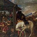 Adoracion De Los Reyes Magos   by Tiziano  Vecellio di Gregorio
