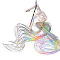 Aerial Hoop Dancing Ribbons For Her Hair Png by Betsy Knapp