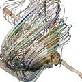 Aerial Hoop Dancing Whirlwind Of Hair Png by Betsy Knapp