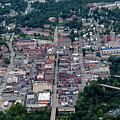 Aerial Of Downtown Morgantown Showing High Street by Dan Friend