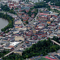 Aerial Of Downtown Morgantown With River by Dan Friend