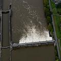 Aerial Of Lock And Dam Morgantown West Virginia by Dan Friend