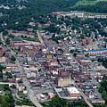 Aerial Of Morgantown West Virginia Showing Bridge by Dan Friend