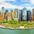 Aerial Panorama Of Downtown New York Skyline by Mihai Andritoiu