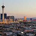 Aerial Panoramic View Of Las Vegas At by Chrisp0
