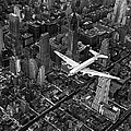 Aerial View Of Airline Passenger Plane by Margaret Bourke-white