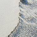 Aerial View Of Lake Beach At Winter by Johner Images