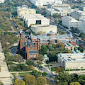 Aerial View Of Museums On The South Side Of The National Mall In by William Kuta