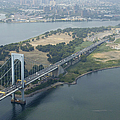 Aerial View Of The Whitestone Bridge by New York Daily News Archive