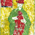 After Billy Childish Painting Otd 23 by Artist Dot