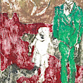 After Billy Childish Painting Otd 43 by Artist Dot