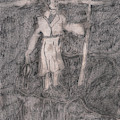 After Billy Childish Pencil Drawing 14 by Artist Dot