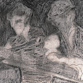 After Billy Childish Pencil Drawing 33 by Artist Dot