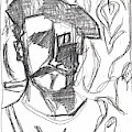 After Billy Childish Pencil Drawing B2-4 by Artist Dot