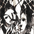 After Mikhail Larionov Black Oil Painting 14 by Edgeworth DotBlog
