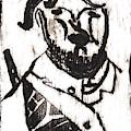 After Mikhail Larionov Black Oil Painting 2 by Edgeworth DotBlog
