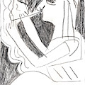 After Mikhail Larionov Pencil Drawing 1 by Edgeworth DotBlog