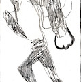 After Mikhail Larionov Pencil Drawing 12 by Edgeworth DotBlog