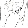 After Mikhail Larionov Pencil Drawing 16 by Edgeworth DotBlog