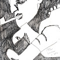 After Mikhail Larionov Pencil Drawing 4 by Edgeworth DotBlog