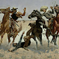 Aiding A Comrade, Past All Surgery by Frederic Remington