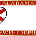 Alabama State License Plate by Bigalbaloo Stock