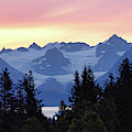 Alaska's Kenai Mountains At Dawn by David Frankel