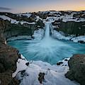 Aldeyjarfoss Waterfall Iceland II by Joan Carroll